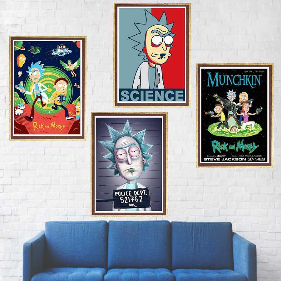 Acheter Rick And Morty Posters Papier Peint Enduit Affiche Murale