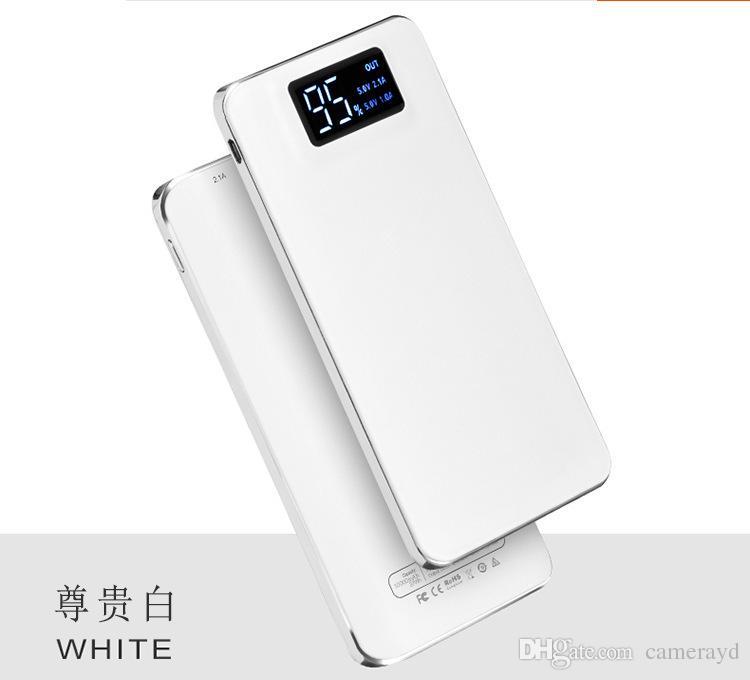 Cep Telefonları için 20000mAh Güç Bankası Taşınabilir Harici Acil Yedek Pil Şarj Evrensel Mobil Telefon PowerBank USB Şarj Paketi