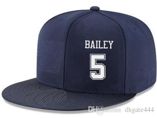 ffab869aa7b Snapback Hats Custom Any Player Name Number  5 Bailey  21 Sanders Customized  ALL Team Caps Accept Custom Made Flat Embroidery Logo Name Hats And Caps  Skull ...