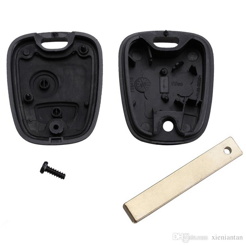 For Peugeot 307/308 2Button Transponder Key Shell With Groove Blade S48