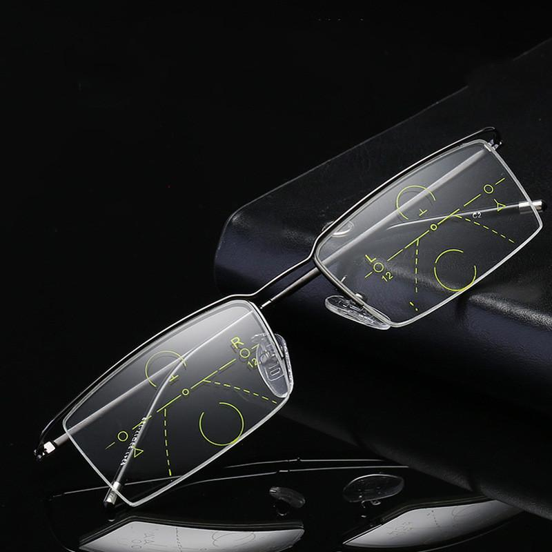 Distance Dual-use Reading Glasses Smart Zoom Reading Glasses Progressive Multi-focus Old Flower Goggles Anti-fatigue Presbyopic Eyeglasses