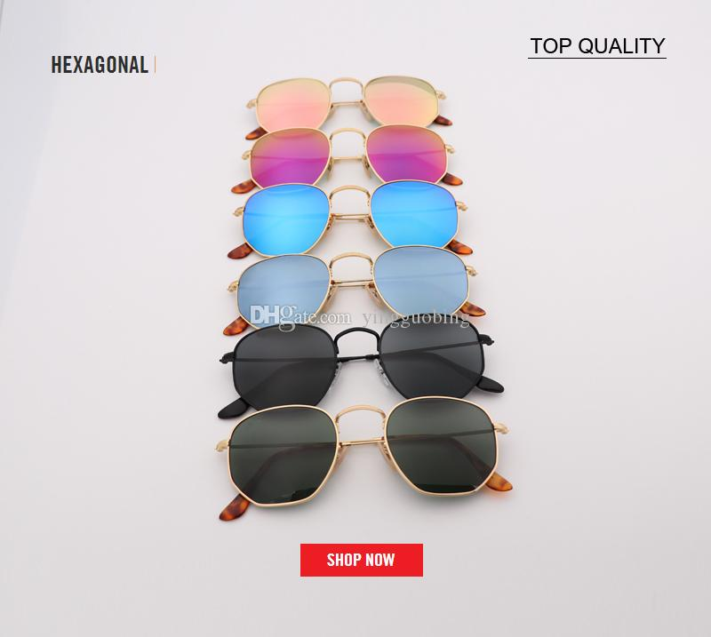 d9e037a09 Factory New Women Metal Flash Sunglasses Men Retro 3548 Square Sun Glasses  Female G15 Brown UV400 Lens Glasses Vintage Frame Shades Gafas Retro  Sunglasses ...