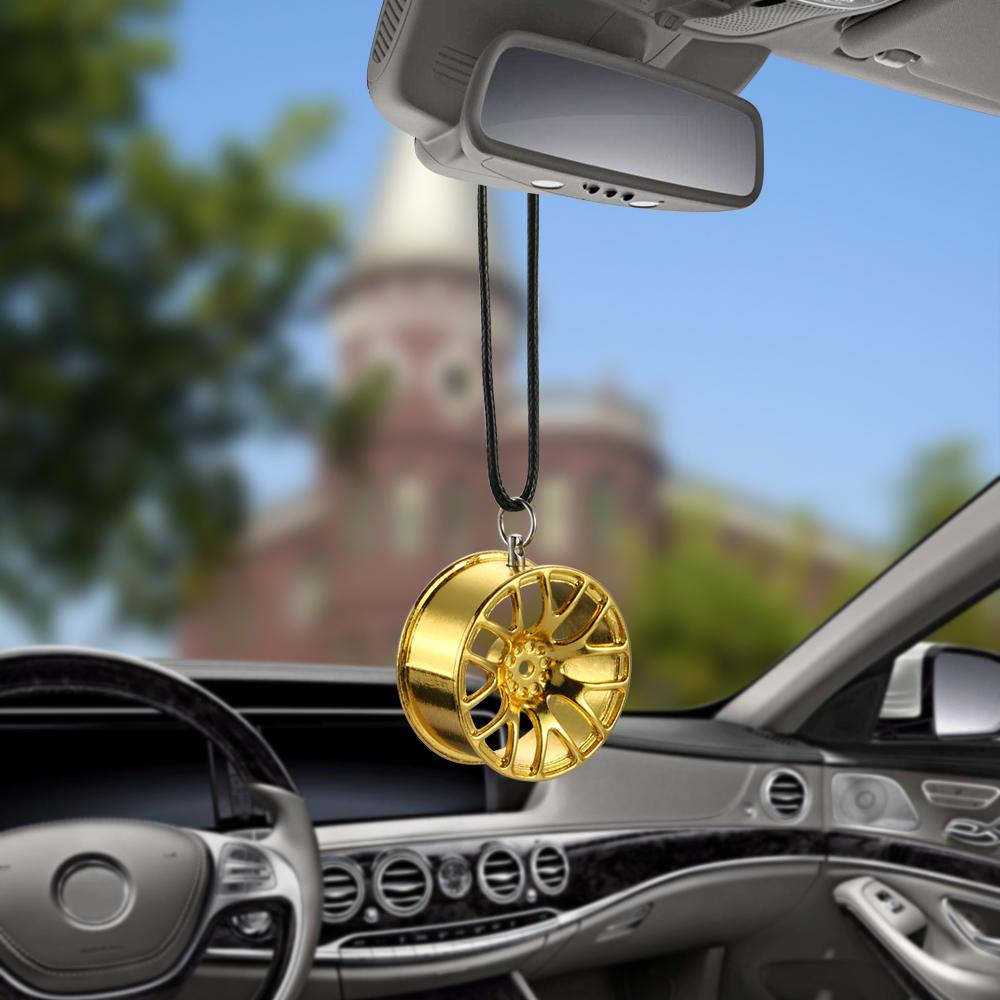 Car Pendant Automobiles Metal Wheel Hub Hanging Car Ornaments Auto