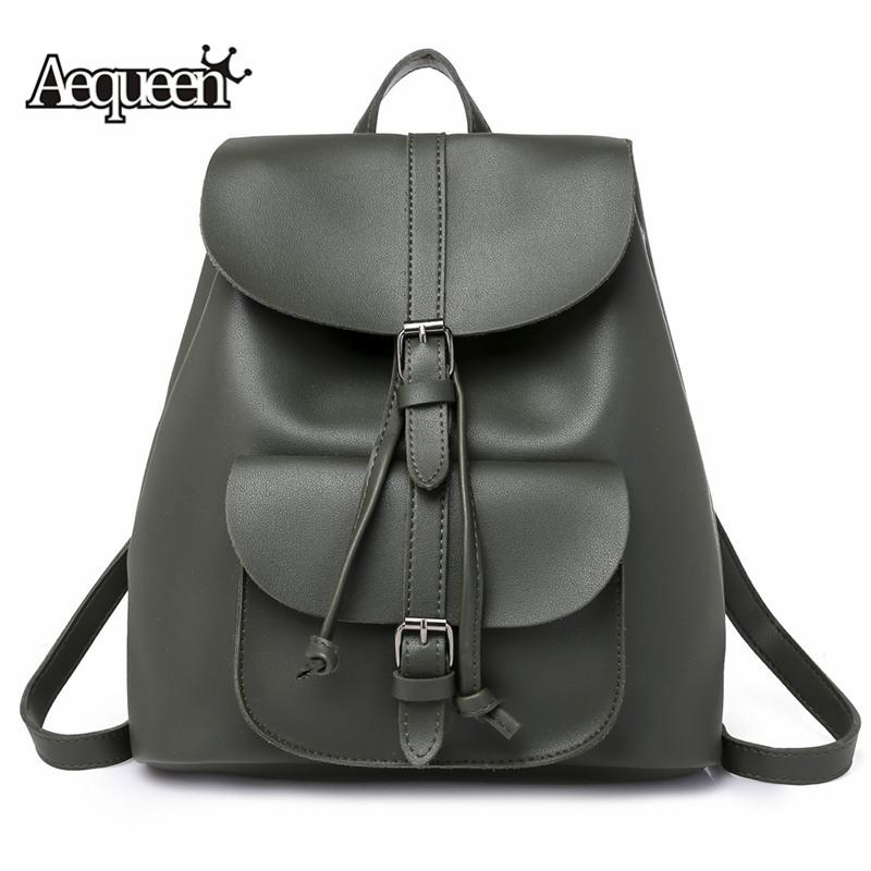 700579019041 Vintage School Bags For Teenage Girls Women Backpack Female Rucksack PU  Leather Small Pack Book Bag Fresh Satchel Backpacks For College Backpacks  For Kids ...