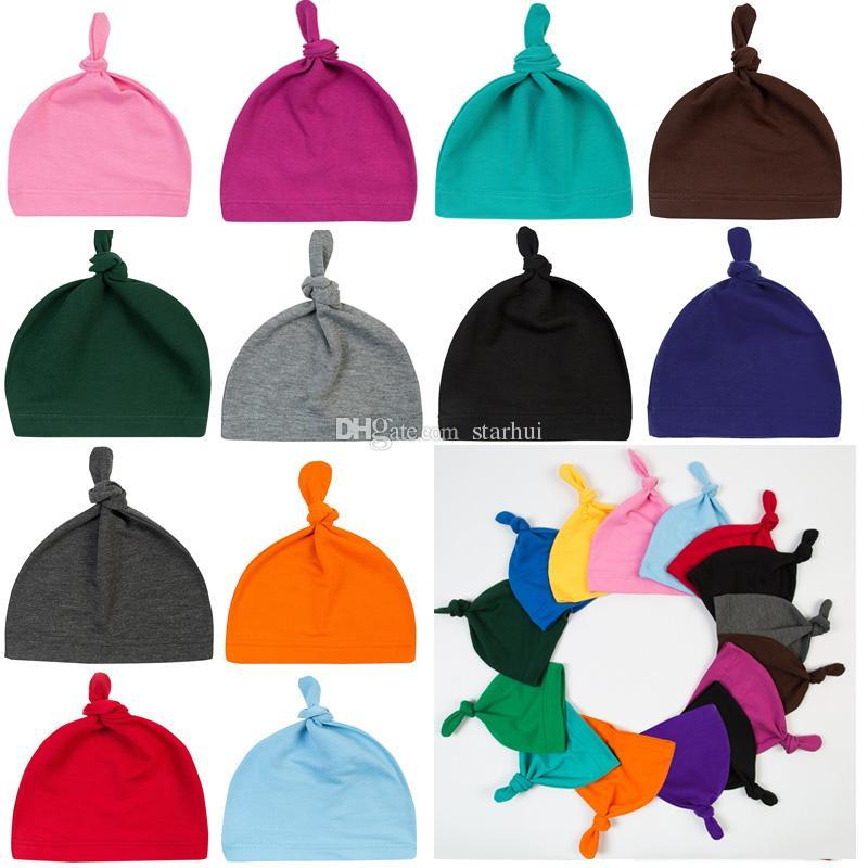 Compre Baby Knot Cap Gorros De Niño Gorros De Algodón Gorras Para Recién  Nacido Niño Primavera Otoño Invierno Sombreros Favores De Fiesta WX9 995 A   0.84 ... 4903c4b0f5c