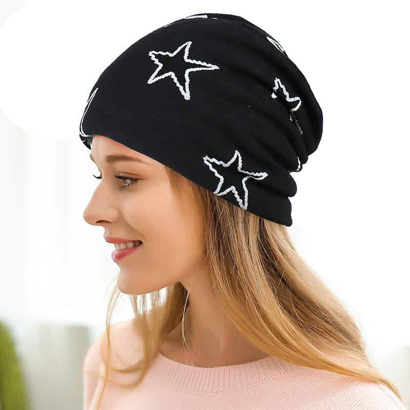 2019 Fashion Print Star Veet Fake Fur Hat For Woman And Man For Autumn And  Winter Bonnet From Peachguo 132a2a3da17