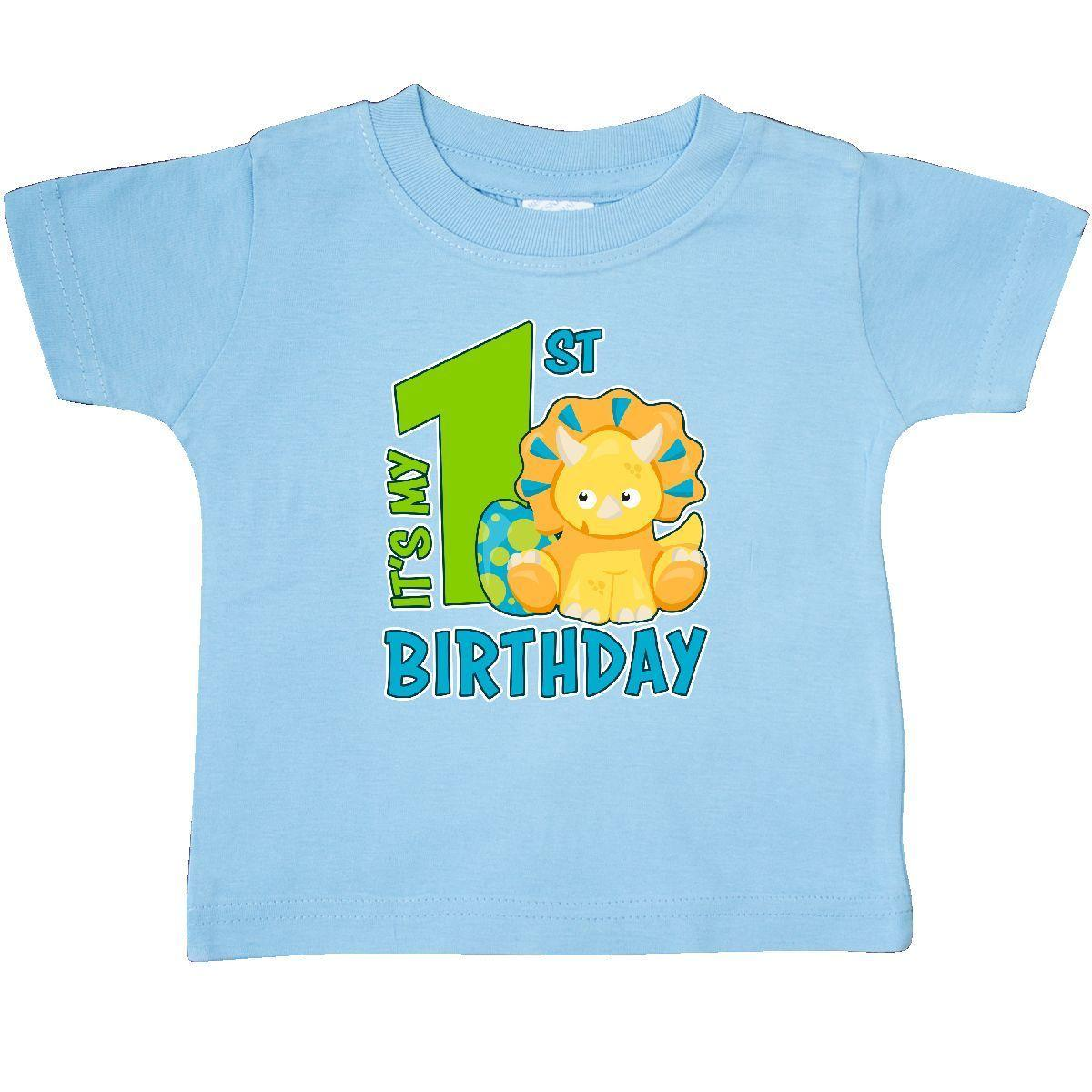 a00ab907 Inktastic Its My 1st Birthday With Dinosaur Baby T Shirt Birthdays First  One 1 Funny Unisex Casual Tee Gift Latest T Shirts Design Best T Shirts  Design From ...
