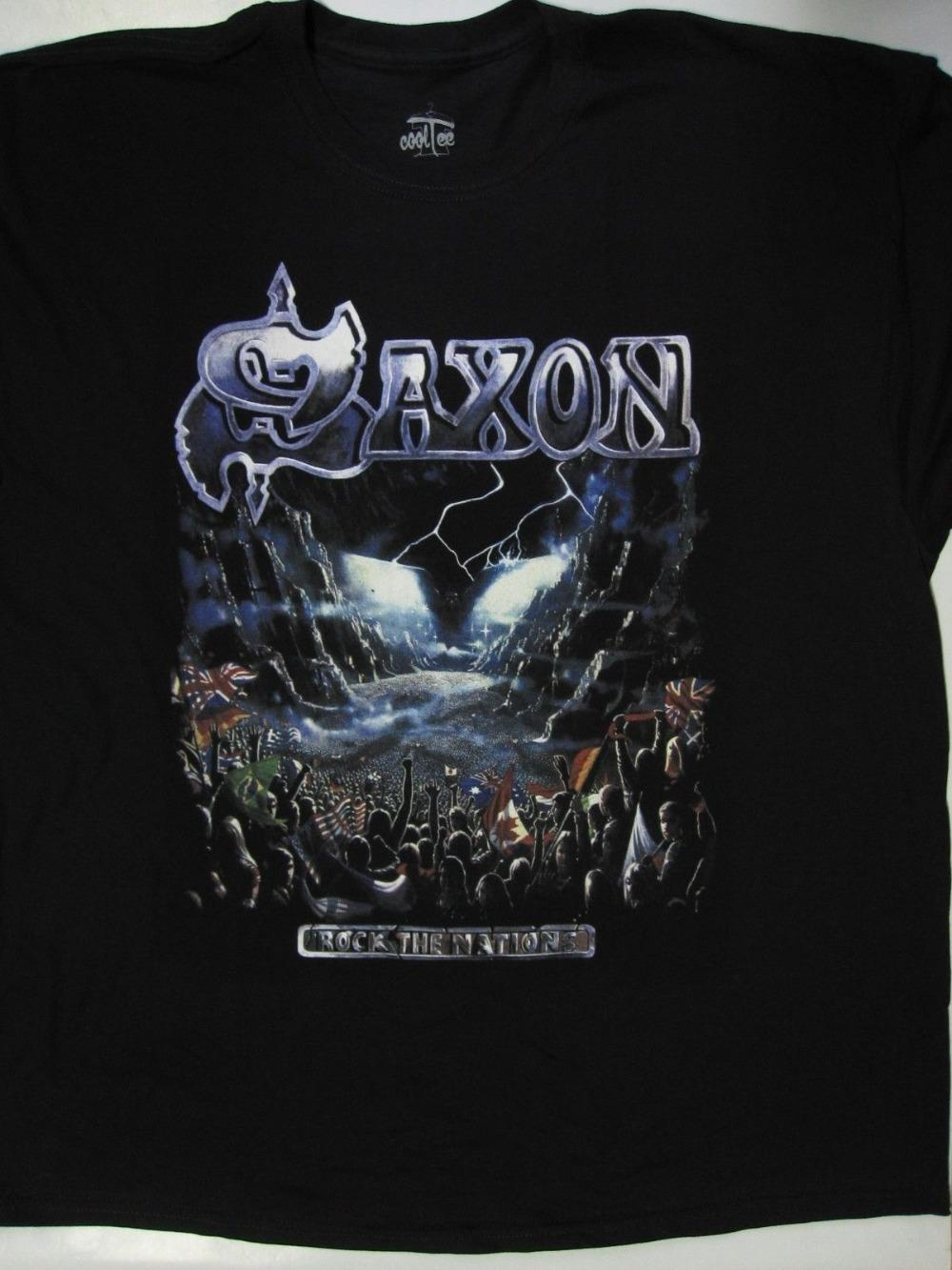 Design Your Own T Shirt Online Mens Saxon Rock The Nation T Shirt S