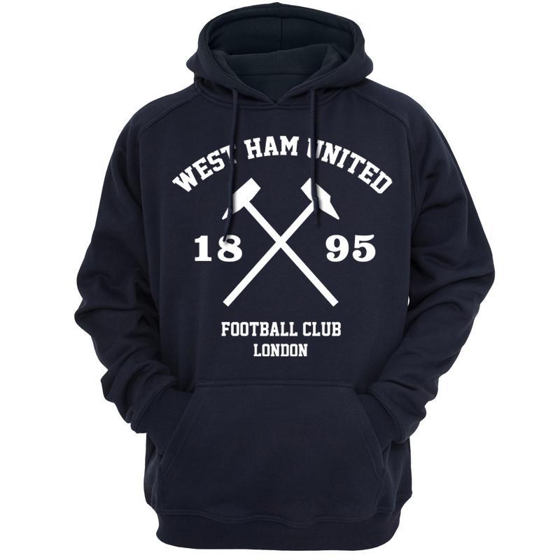 buy popular 8de4c 67570 West Ham United club Hammers fans Hoodies Sweatshirts Spring autumn season  Lightweight West Ham Hooded Hoody Casual Apparel 52 D18100704
