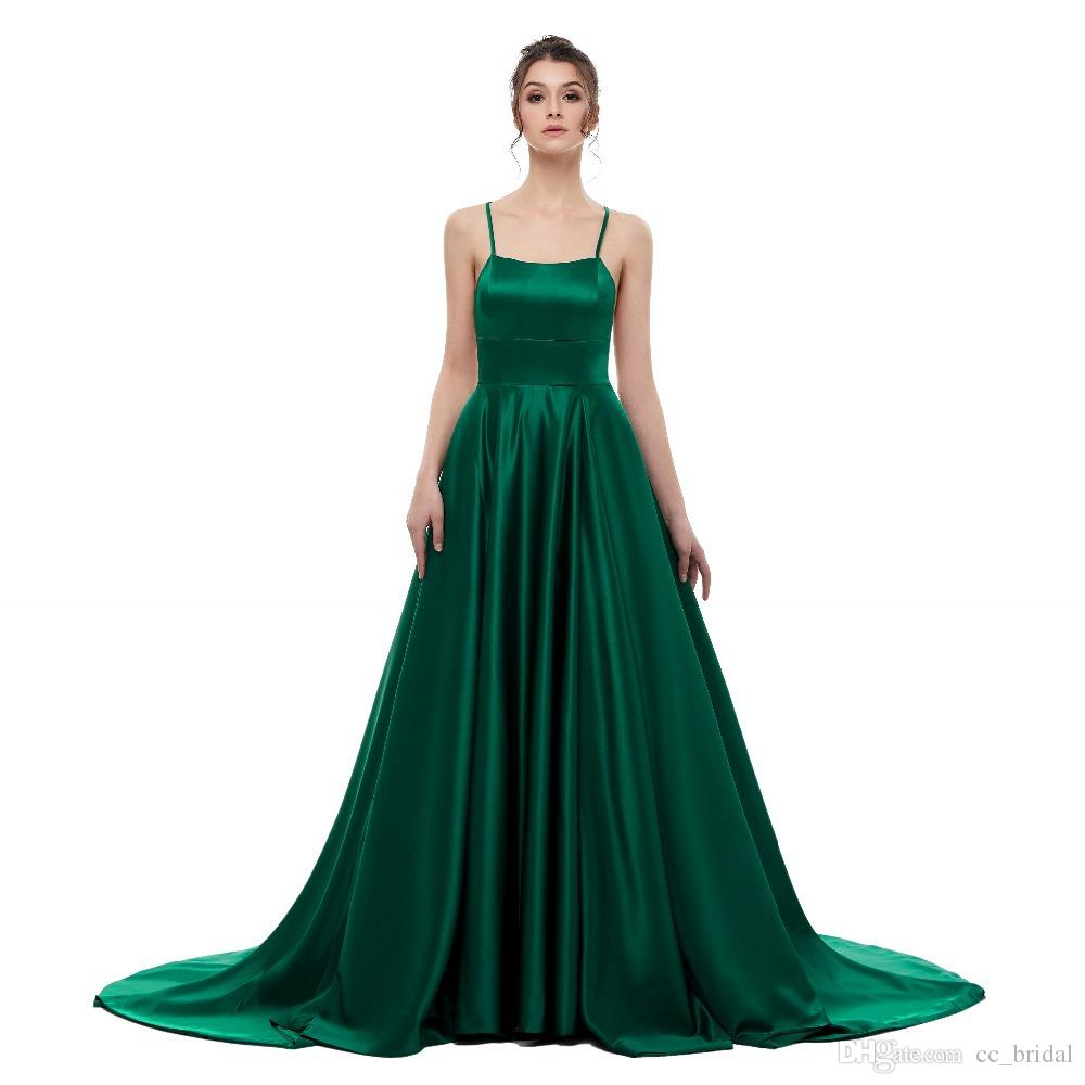 4844aa23df Gorgeous Dark Green Prom Party Dresses 2019 Side Split Backless Evening  Dress Formal Party Dress Gowns Long Cheap Vestido De Festa Hot Sale Short  Lace Prom ...