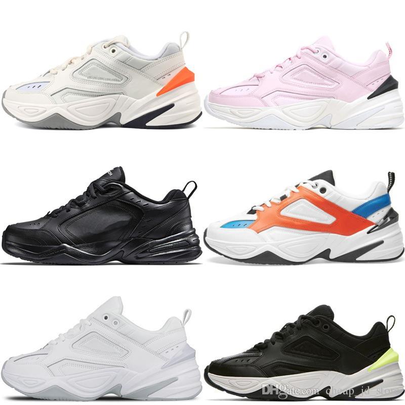 Compre Nike 2019 Designer M2K Tekno Pai Sapato Paris Fantasma Rosa Espuma  John Elliott Branco Preto Volt Mens Mulheres Treinador Tênis Esportivos De  Corrida ... 5144df9b74038