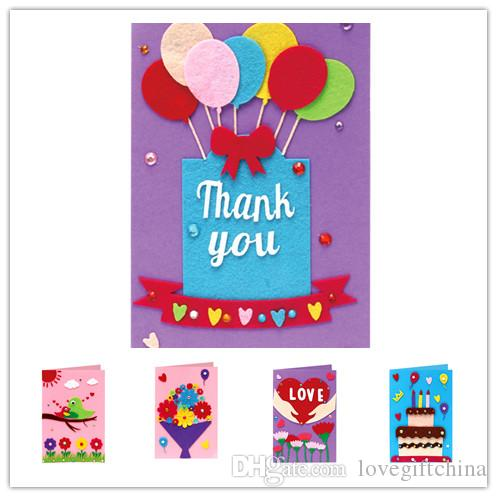 Children handmade greeting cards diy christmas thanksgiving teachers children handmade greeting cards diy christmas thanksgiving teachers birthday day new year party gift kindergarten 3d card kits 5 styles congratulations m4hsunfo