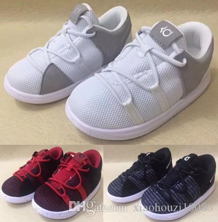 fd0cf05102a7 Baby   Toddker Basketball Shoes Younger Kids  Shoe Older Kids  Shoe Zoom KD  10 Chinese Shoes Parent Child Gift White Running Shoes For Kids Cheap  Tennis ...