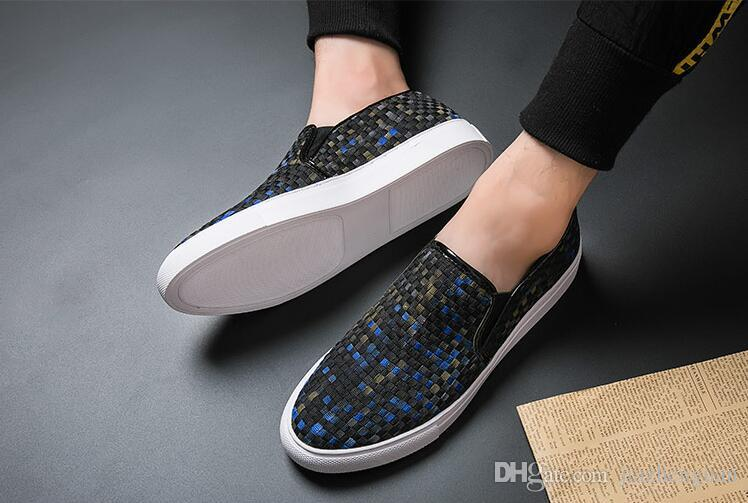 2019 New style Men Shoes Moccasin Leather Casual Driving Oxfords Shoes Men Loafers Moccasins Italian wedding Shoes M759