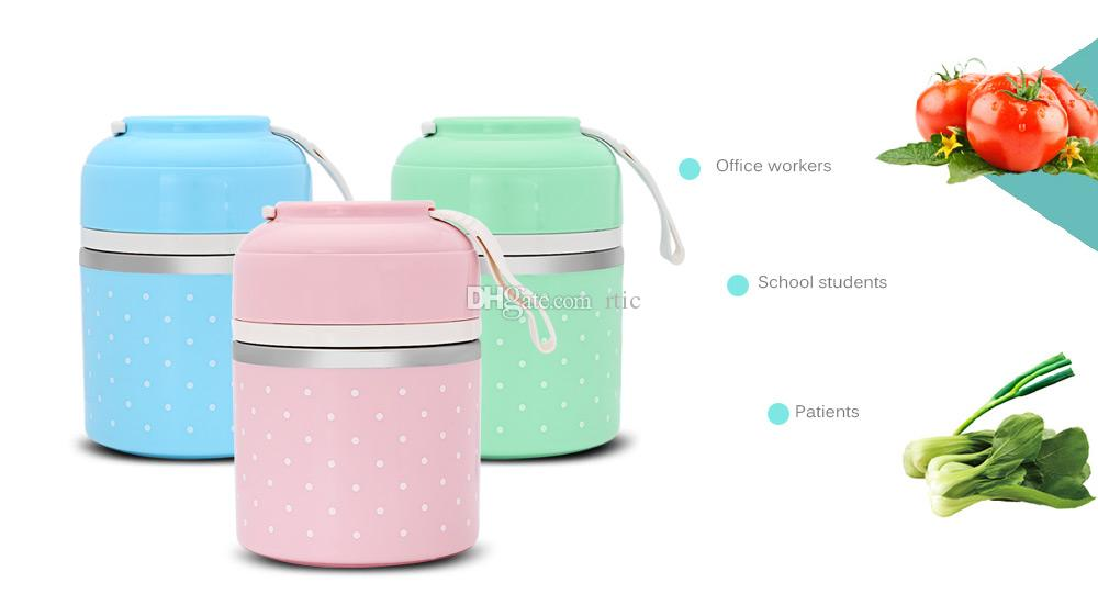New Colorful Thermal Lunch Box Stainless Steel Food Storage