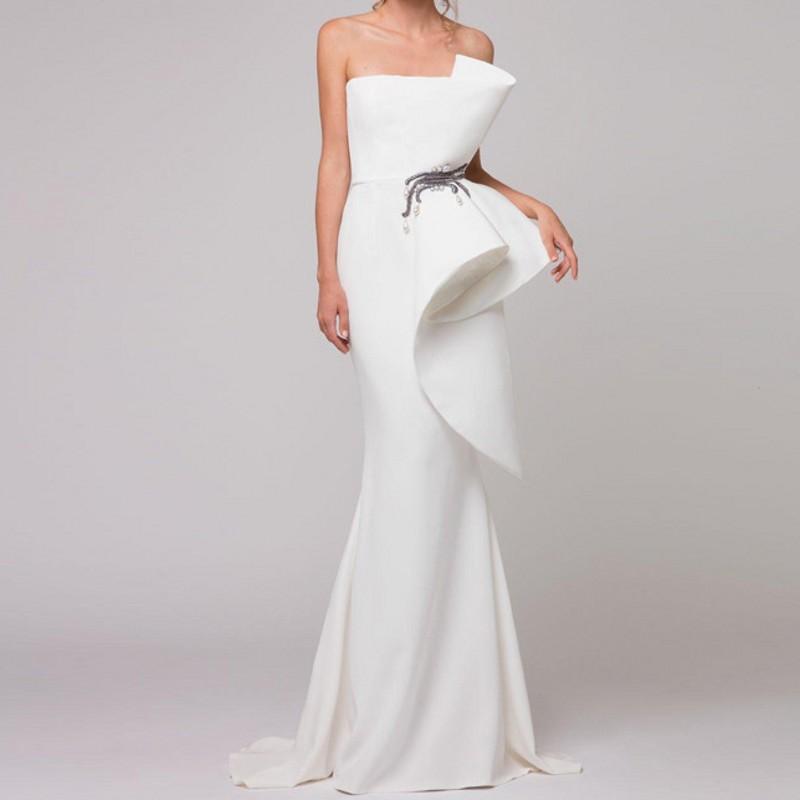 Elegant Formal Gown Evening Dresses Sash Vestido De Festa Sheer ...