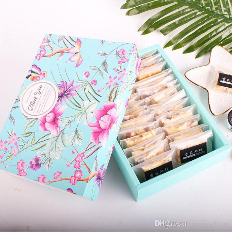 22.6*15.6*5cm Flower Design Cheese Birthday Cake Paper Box Cookie Container Snacks Gift Packing Boxes ZA6605