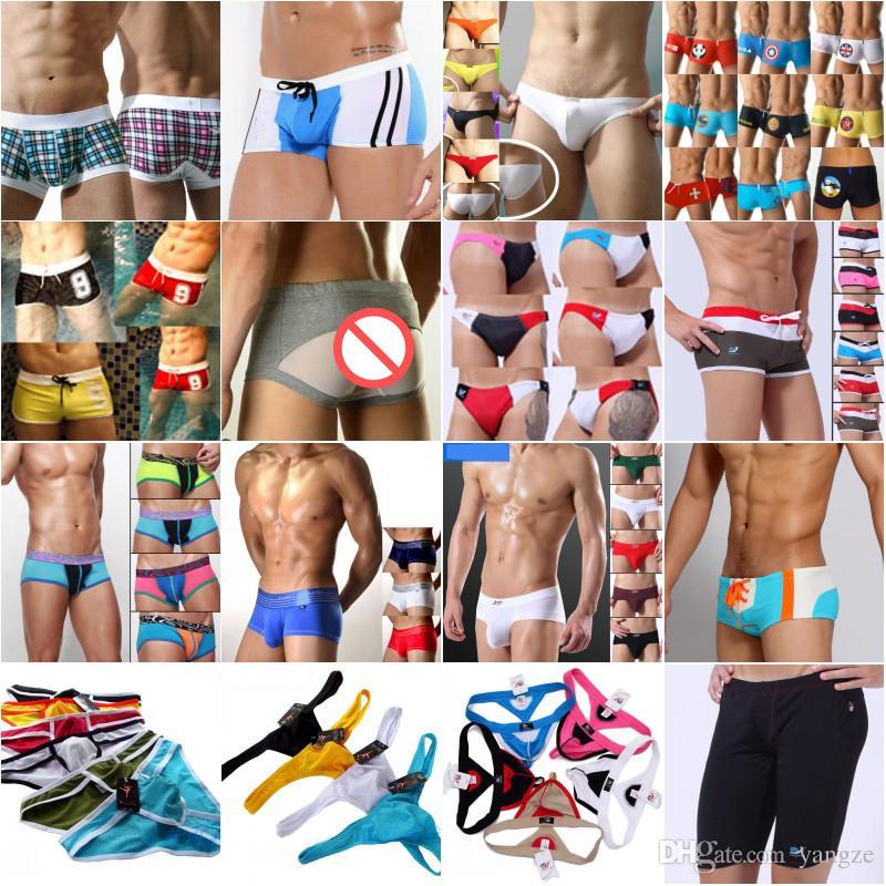 d0c56e82a972 DEALS Men's Sexy Underwear Fashion Boxer Shorts Briefs Modal Cotton Male  Underpants Pants Mix Stripe Random colors
