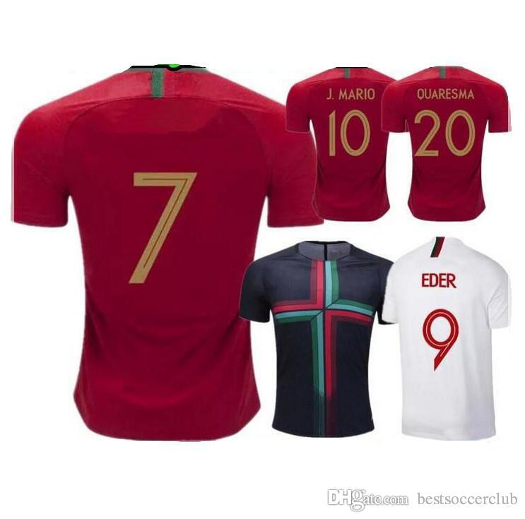 Soccer Jerseys 2018 2019 World Cup Maillot De Foot CR7 7 QUARESMA ... e671899ad660