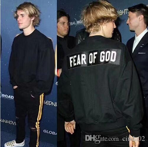 Justin Bieber Sweatshirts Fear Of God Men Women Top Quality JAY-Z 4:44 Crewneck Hoodie Pullover T-shirts
