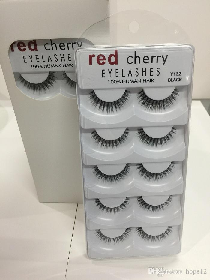 RED CHERRY Faux Cils Naturel Longs Cils Extension de Maquillage Professionnel Faux Cils Ailé ​​Faux Cils Wispies y124 y105 y131 y11