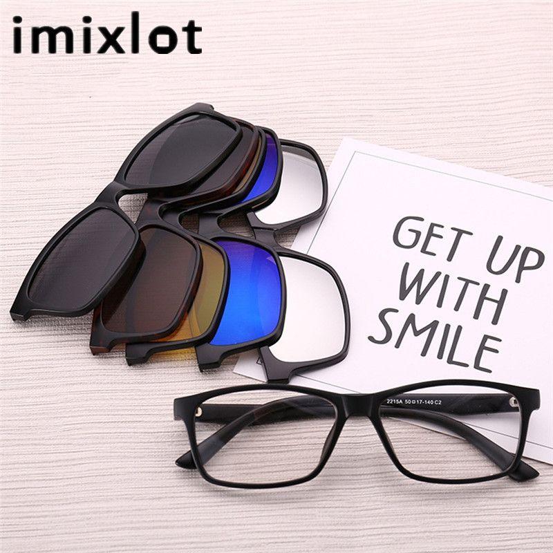 Compre Imixlot Gafas De Sol Magnéticas Polarizadas Clip Imán Espejo ...