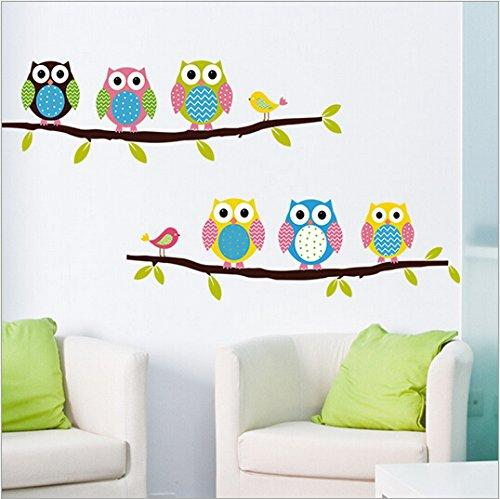 Removable Home Decoration Nursery Decor Cute Cartoon Owl Pattern Baby Kids Bedroom Art Wall Decal Stickers