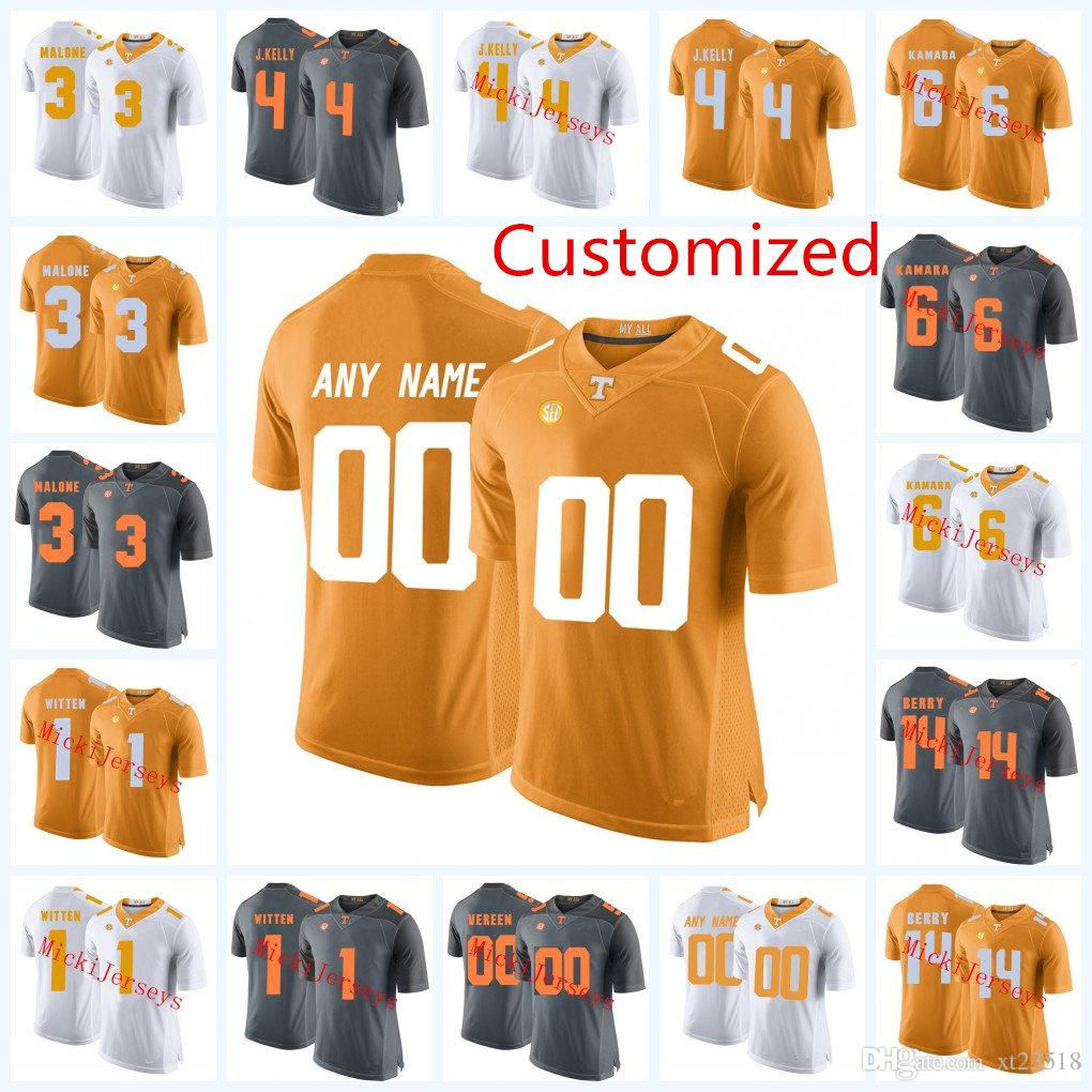 new product 17166 acf80 Mens NCAA Custom Tennessee Volunteers College Football Jerseys Eric Berry  Alvin Kamara Reggie White BILL BATES Tennessee Volunteers Jersey