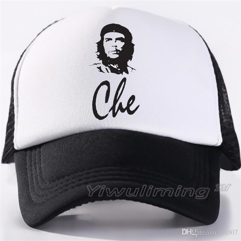 Men Women New Summer Trucker Caps Che Guevara Cool Summer Black Adult Cool Baseball  Mesh Net Trucker Caps Hat For Men Adultbeyonce Starter Cap Big Hats From ... 986d3839c8e1