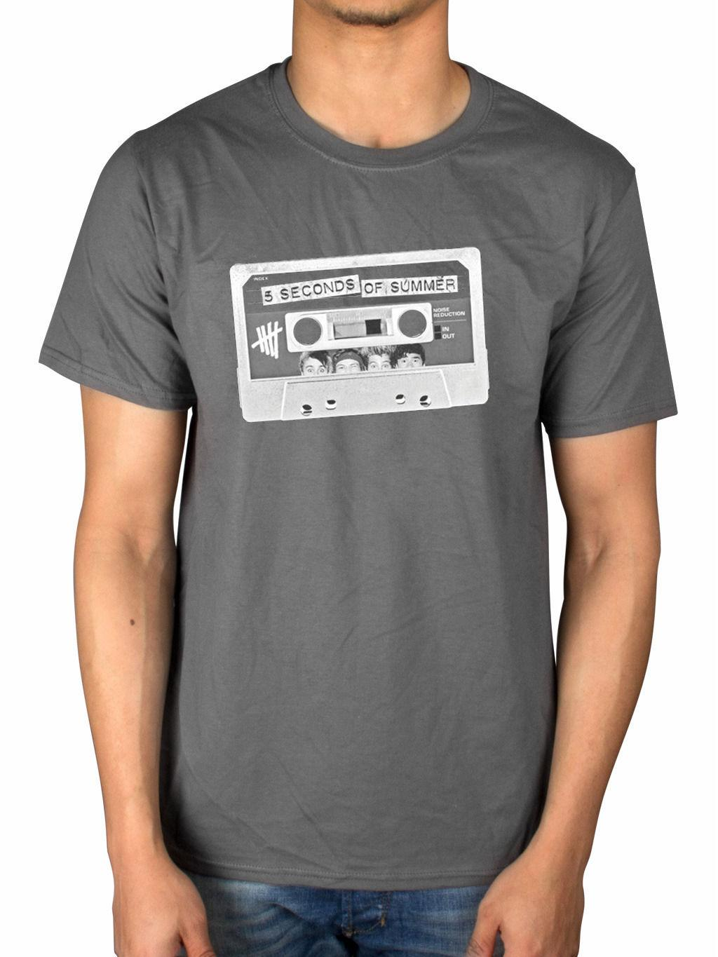 Official Five Seconds Of Summer Tape T Shirt 5sos Dont Stop Live