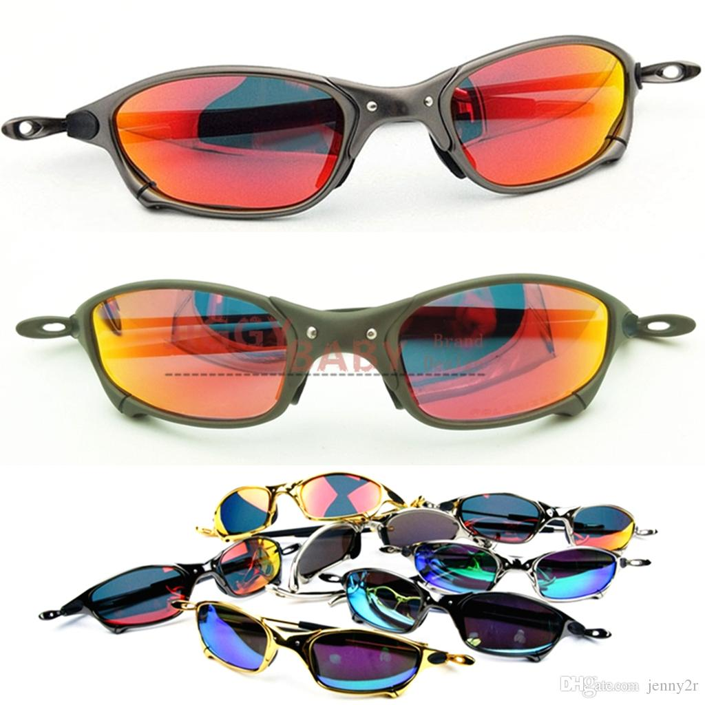 95a06b78a2732 Compre Top Óculos De Sol Juliet Polarized X Metal Marca Designer De Alta  Qualidade UV400 Mens Mulheres Iridium Gelo Azul Colorido Lentes Espelhadas  Gafas ...