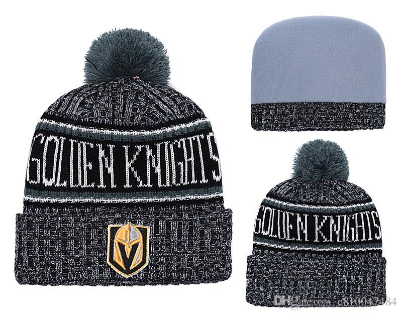 New Classic Vegas Golden Knights Sport Hockey Skullies Hat Pom ... 96fa666c7a6