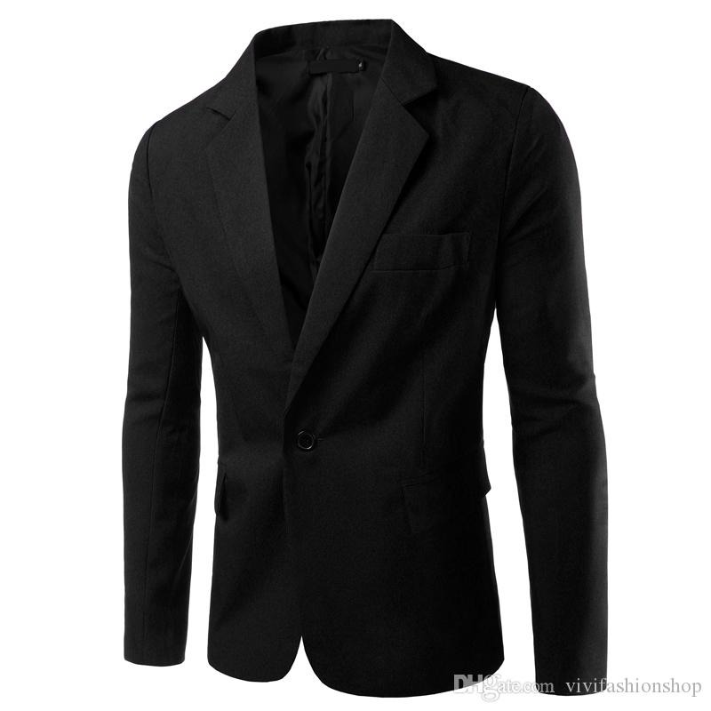 6e87db8bf4d NEW Mens Fashion Blazer British s Style Casual Slim Fit Suit Jacket ...