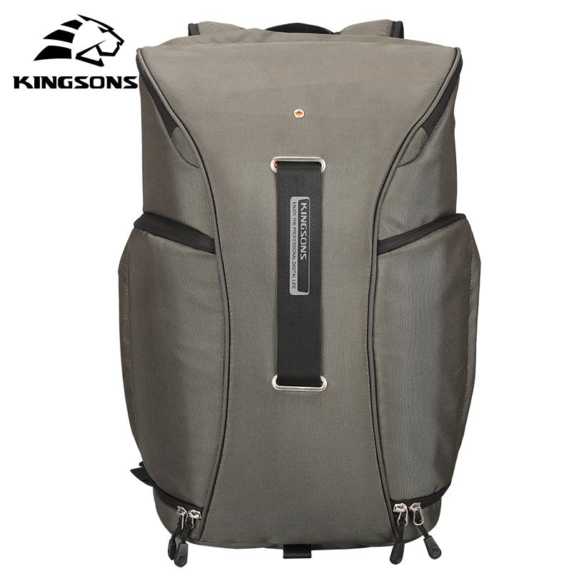 Kingsons Waterproof Men Backpack 15.6 Inch Top Quality Luxury Designer Travel Photography Bag Protect Camera Air Backpack Men