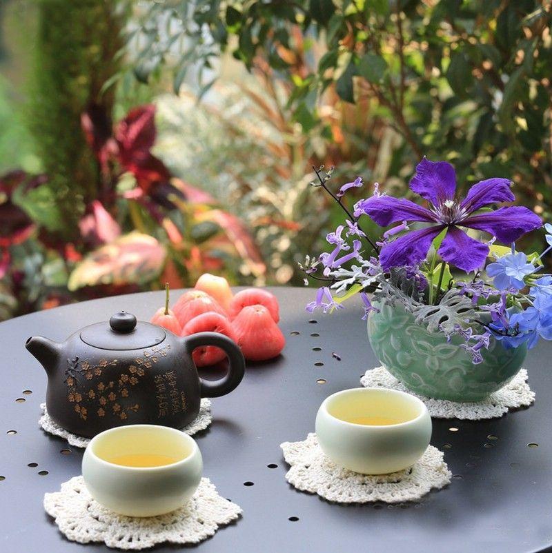 Round Table Mat Vintage DIY Handmade 10cm Crochet Coasters Zakka Doilies Cup Pad Props Multi Color Brand New Ebizcn