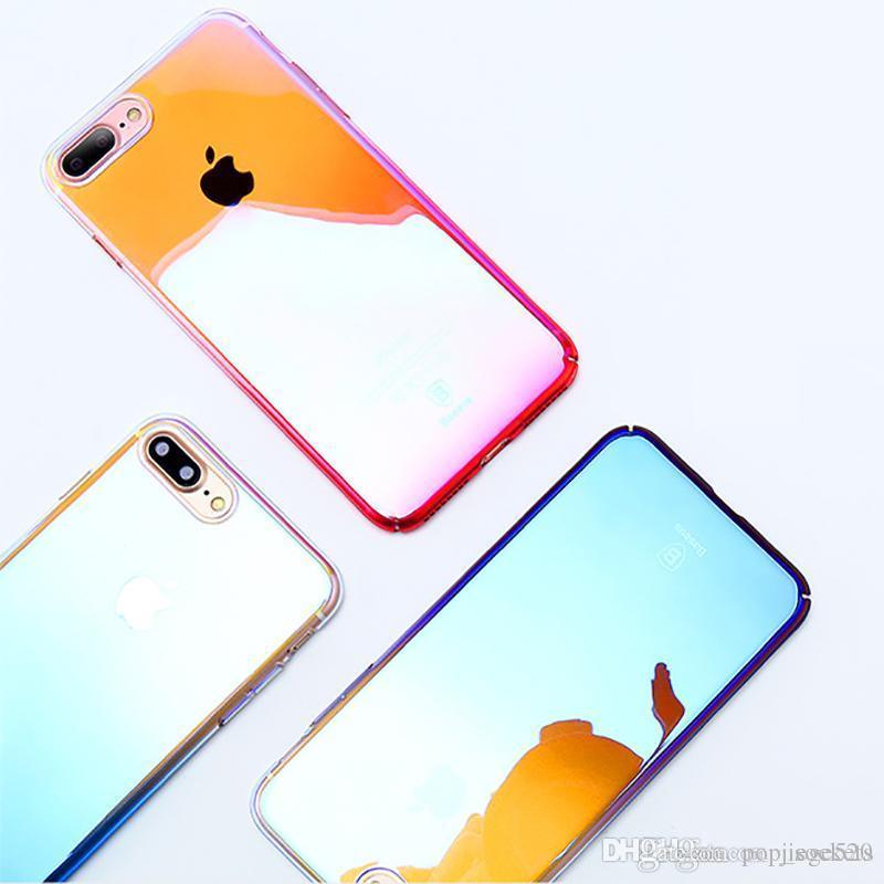 Чехол Для Айфона 4 Для Iphone X   8   8plus 7   7plus Мобильный Телефон  Case Pc Case Градиент Все Включено Мобильный Телефон Аксессуары Защитный  Чехол С ... 1f26d46cb5b32