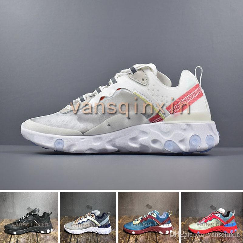 31be37f44ddf6 New Epic React Element 87 Undercover Super Running Shoes Top Quality Luxury  Fashion Triple 3 Trainers Men Womens Shoes Sneakers Eur36 45 Good Running  Shoes ...