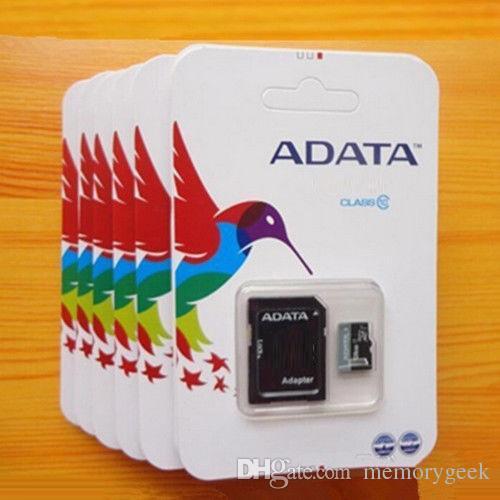 새로 도착한 메모리 카드 256GB 32GB 64GB 128GB ADATA 마이크로 SD 카드 MicroSD TF C10 SD 어댑터 소매 패키지