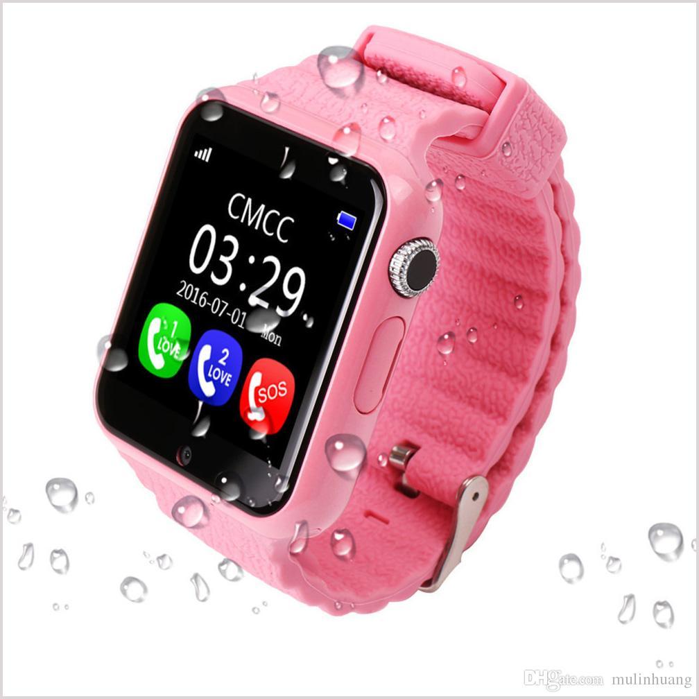 2ee66723be7b Relojes Originales Reloj Inteligente Para Niños V7K Waterproof GPS Reloj  Seguro Para Niños Anti Lost Relojes Con Cámara   Facebook SOS Call Device  Device ...