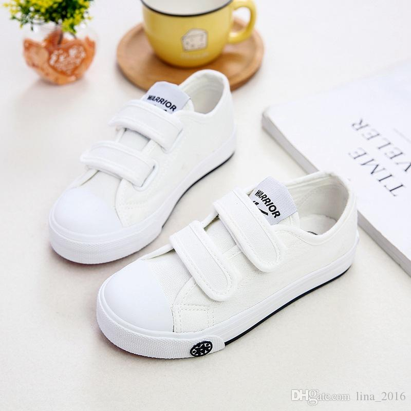 Children Athletic Warrior Canvas Shoes Girl Boys Skateboarding Magic Stick Casual Shoes Sports Shoes B0051