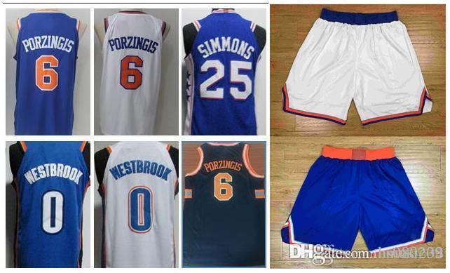 ... cheap 2018 2018 newest new york knicks jerseys shorts 6 kristaps  porzingis 100 stitched basketball jerseys e144bd62d