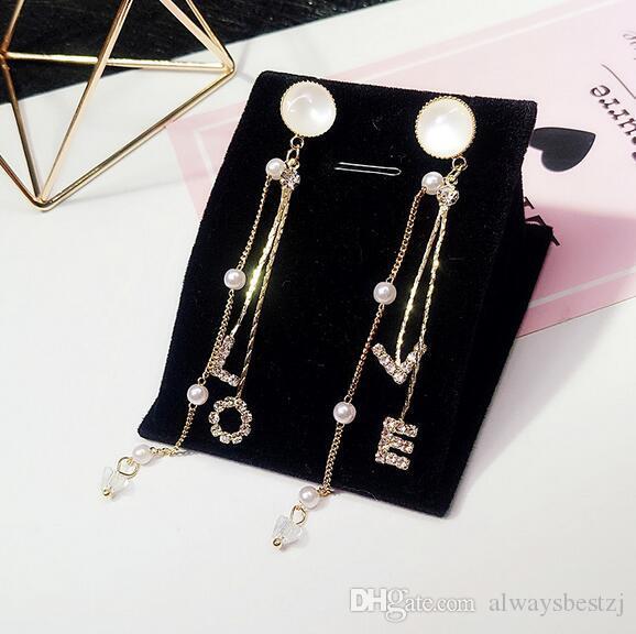 Earrings Drop Earrings Big Statement Geometric Rhinestone Earrings For Women 925 Silver Needle Simple Chic Wedding Party Drop Earrings Jewelry Gifts