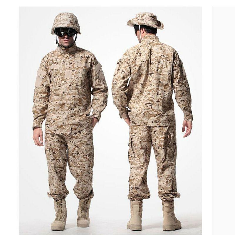 Men Military Tactical Special Force Combat Uniform Python Jacket Pants suits