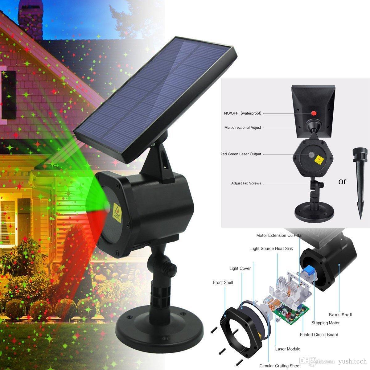 2018 Solar Laser Light Landscape Projector Laser Beams Christmas ...