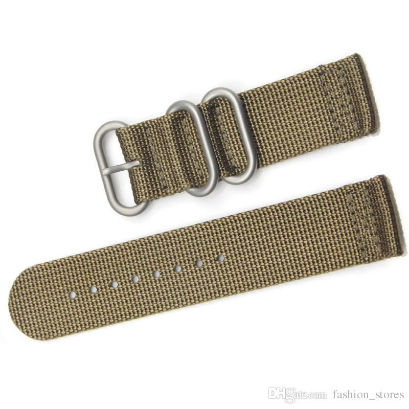 1cf072706 Black Green Khaki High Quality Nylon Nato Straps Watch Bands In Silver  Rings 18 20 22 24mm Watches Band The Band Watch Bands From Fashion stores