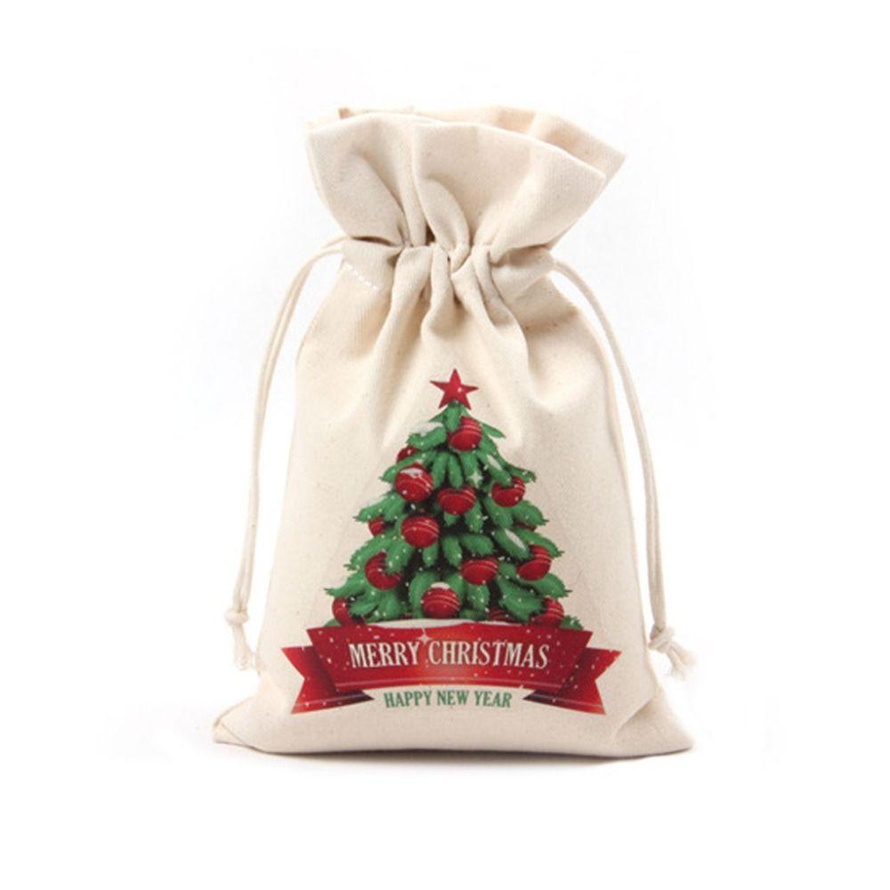 Christmas Gift Bags Large Canvas Santa Drawstring Sack Party Favors ...