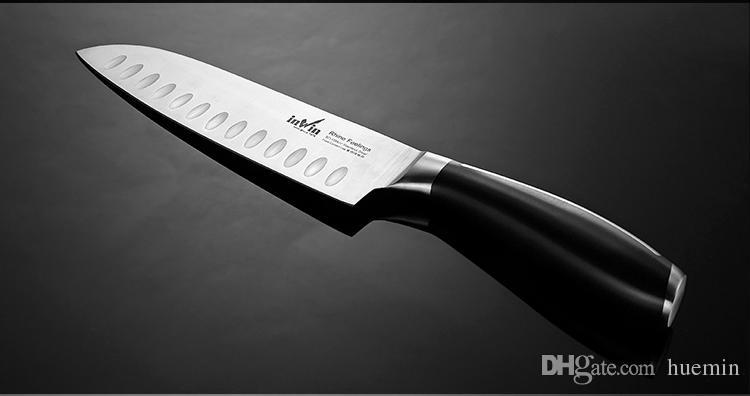 5Cr15MoV cozinha de aço inoxidável faca conjunto com bloco de madeira faca