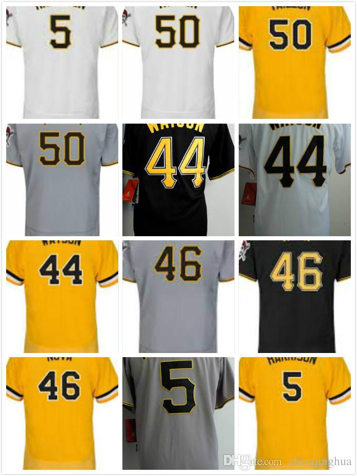 brand new e3d49 efbf4 Jameson Taillon #50 Tony Watson #44 Ivan Nova #46 Josh Harrison #5 Cheap  Men Stitched Baseball Jerseys