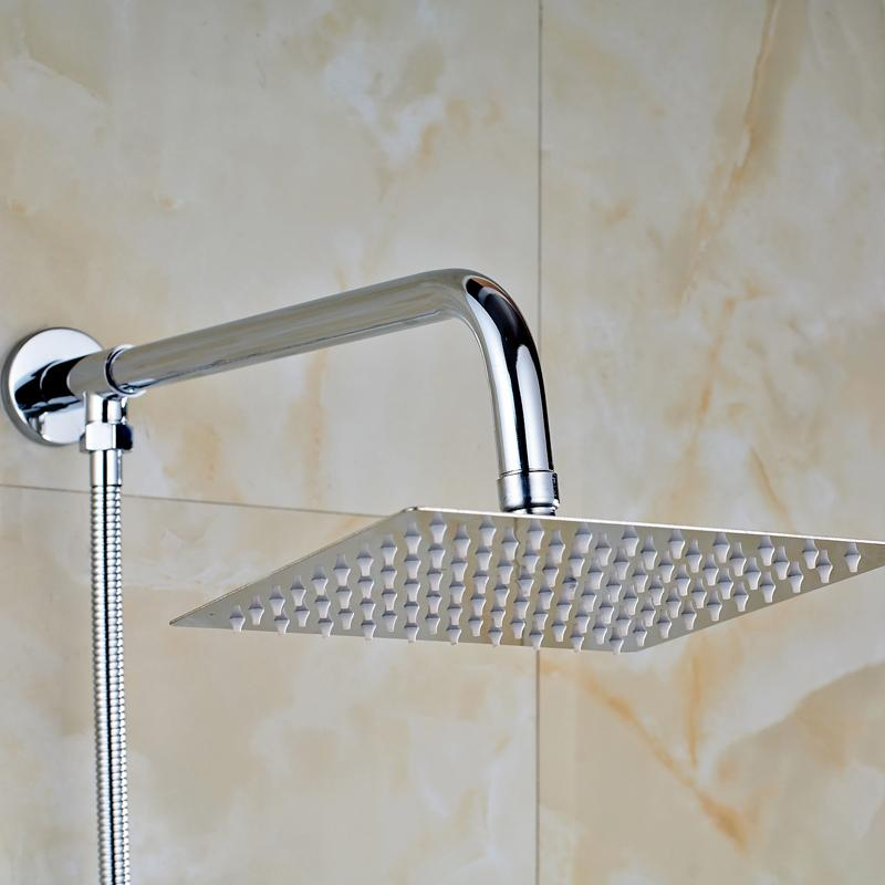 2018 Chrome Finish Shower Set 8 Square Shower Head With The Hose ...
