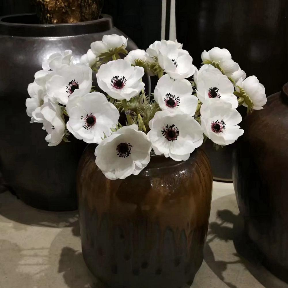 2018 Artificial Anemone Flowers Wedding Home Table Flower Party ...